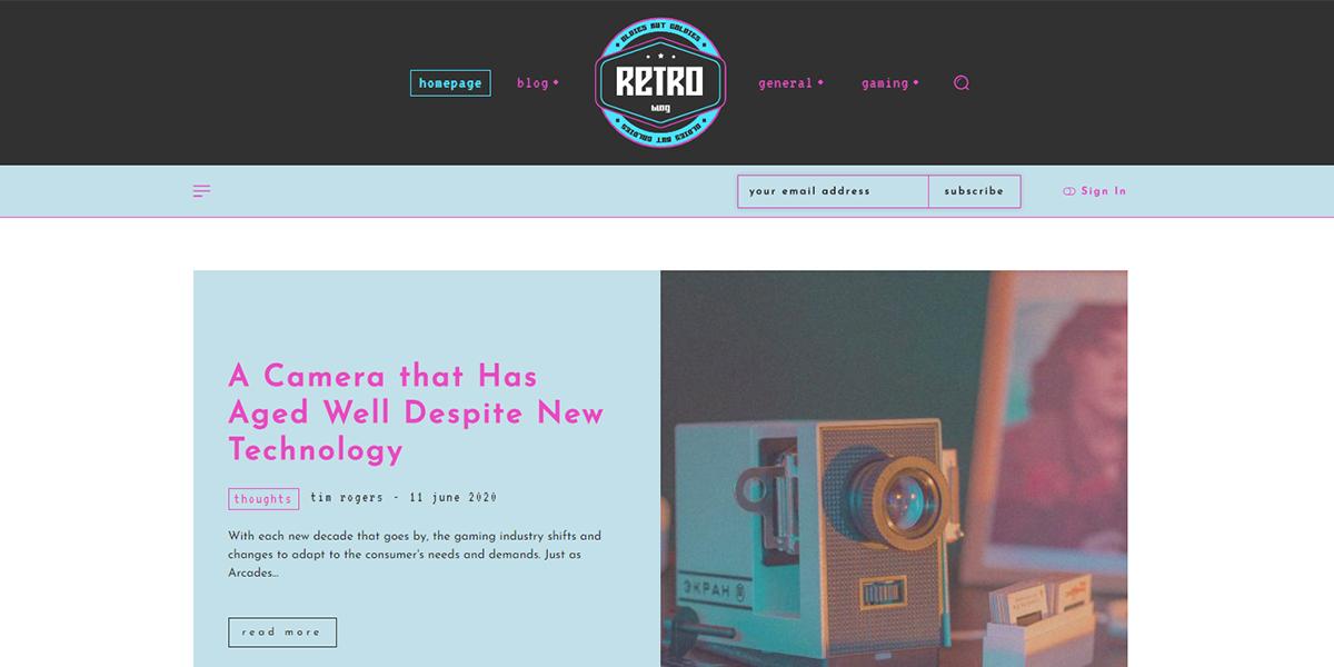 Retro Blog PRO demo