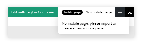 No Mobile Page