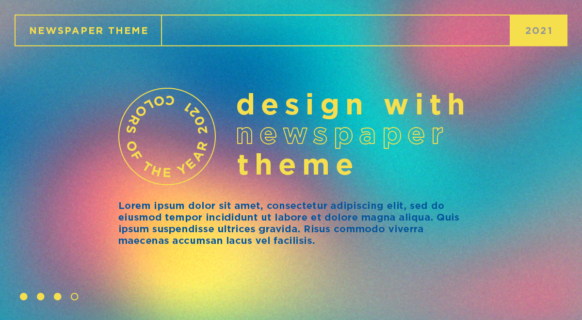 Website design with Ultimate Gray & Illuminating