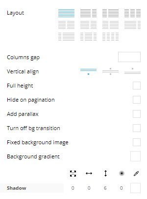 General Settings for Rows