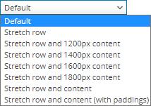 Stretch Row Dropdown menu