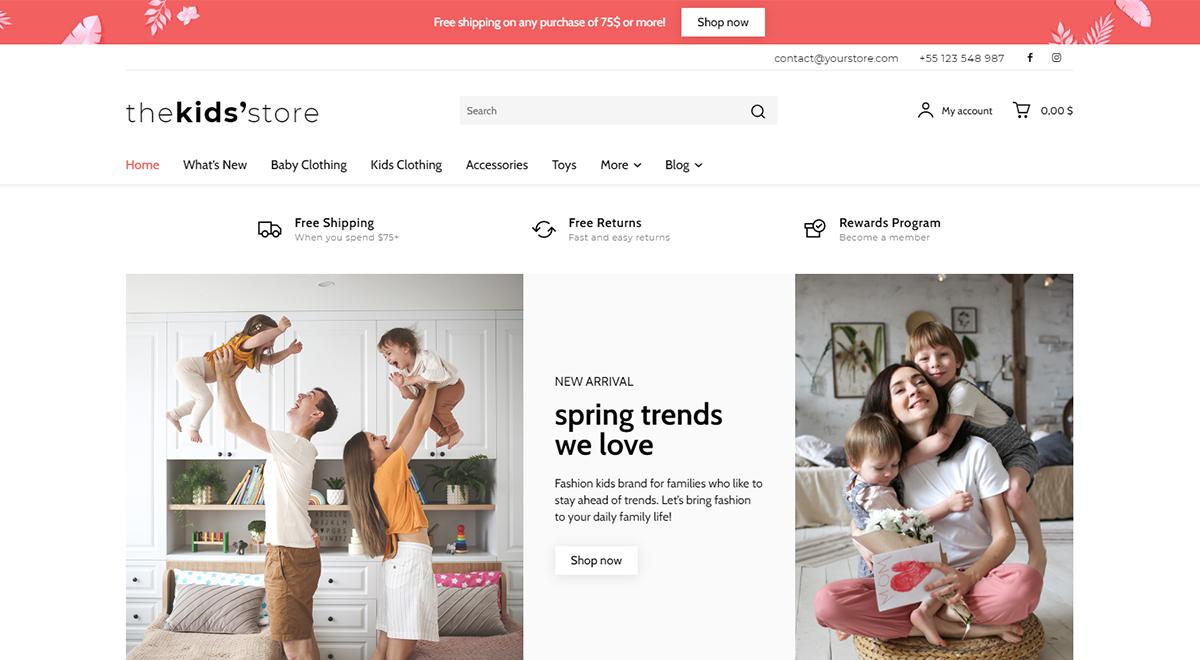 Choose a Prebuilt Shop Website Design